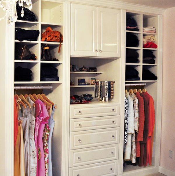 Small closet organization ideas small bedroom closet for Wardrobe designs for small bedroom