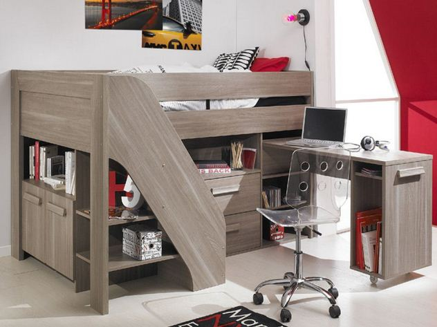 small cabin bed with storage for small bedroom 010
