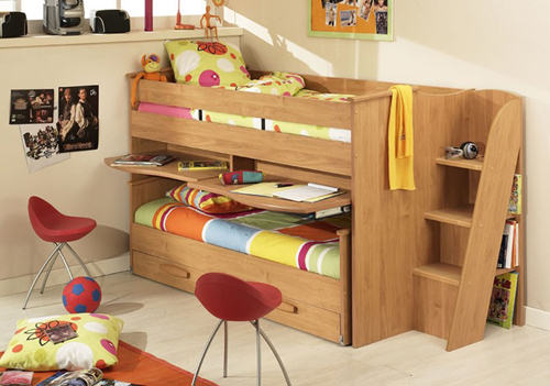 small childs cabin bed for small room 01