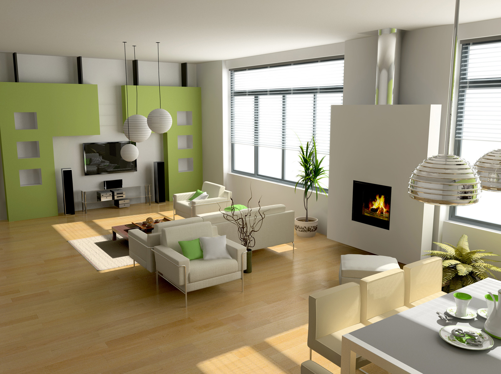 small electric fireplace with modern minimalist home images 04