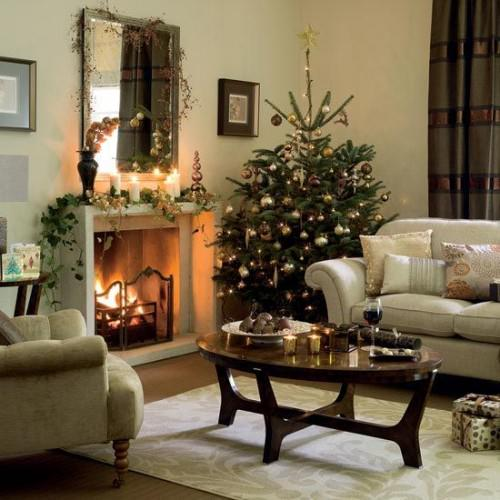 small living room christmas home decorating ideas picture 02