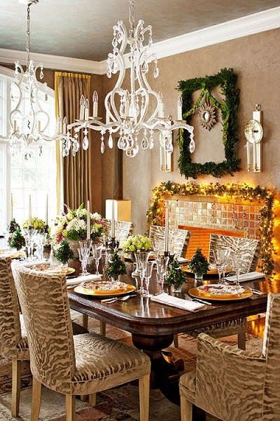 Christmas decorating for small dining room image 04