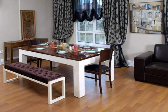 Dining room furniture ideas for small spaces images 05 for Dining room table ideas for small spaces