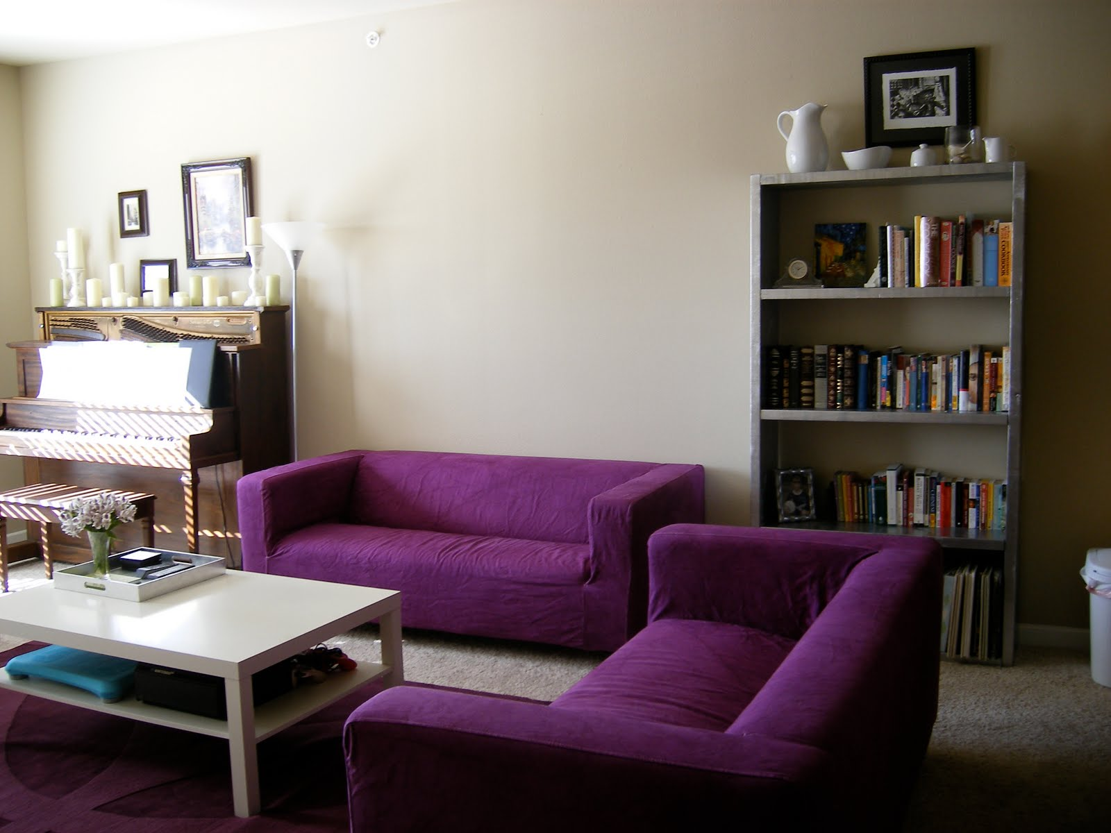 Purple Corner Sofas for Living Room Pic 01
