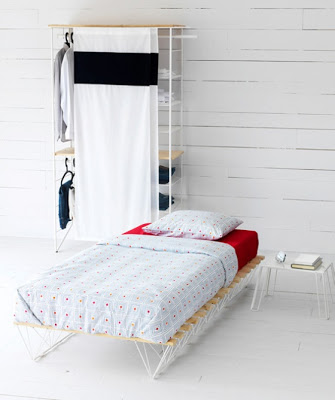 White Beautiful small bedroom design images 05