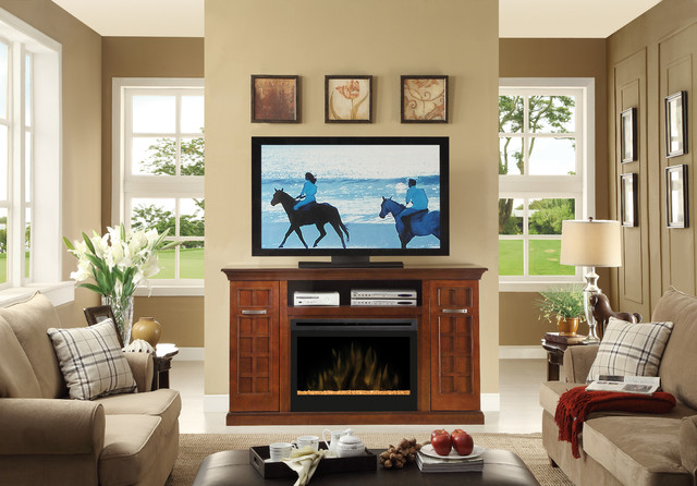 Awesome Living Room With Electric Fireplace Design Ideas Image 05