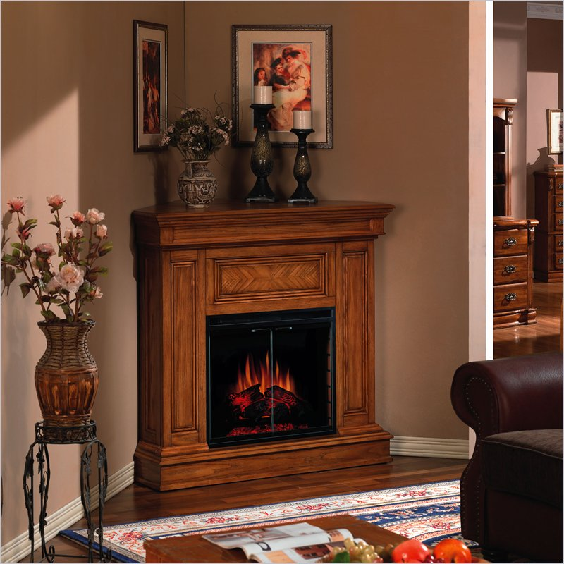 classic flame corner electric fireplace for small room