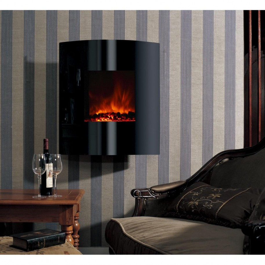 Consider an electric fireplace for your home heating needs small room decorating ideas - Very small space heater decor ...