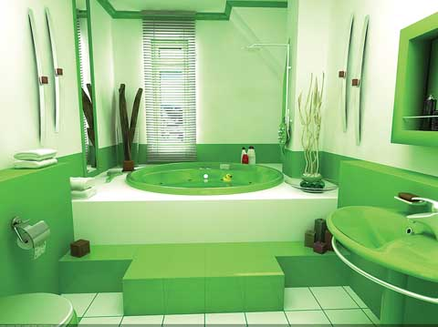 Green small bathroom design ideas pictures 02