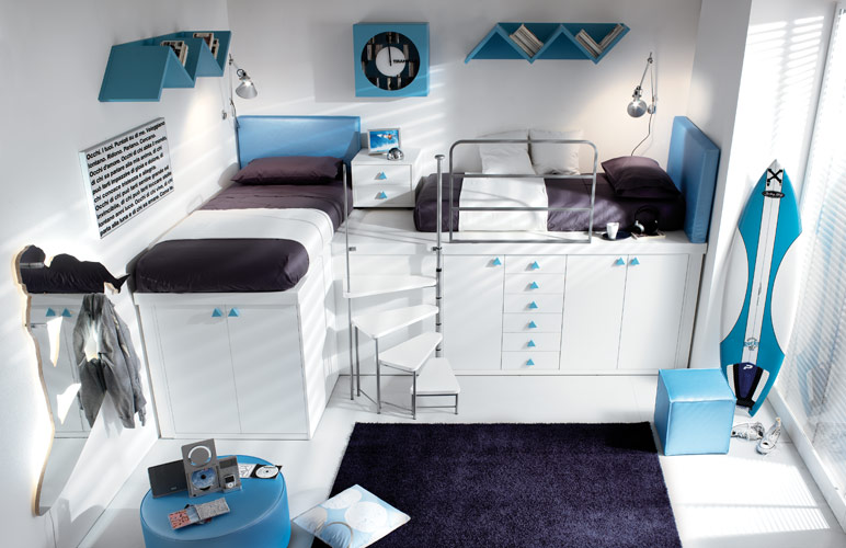 Small bedroom ideas for teenagers cool bedroom ideas for teenage guys small rooms image 04 Cool bedroom designs for small rooms