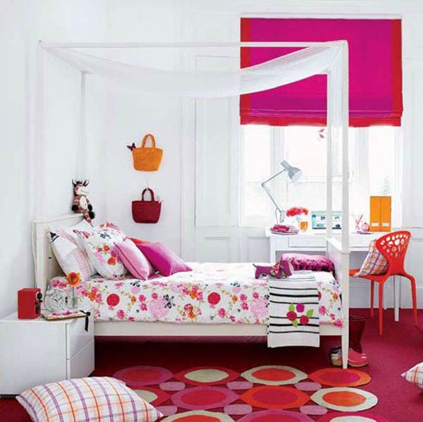 cute pink girl bedroom decorating ideas picture 09