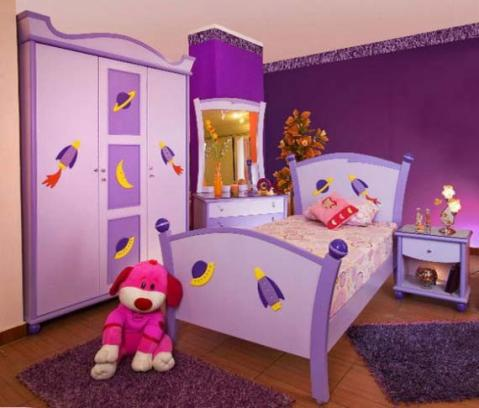 girls bedroom decorating ideas purple pic 01