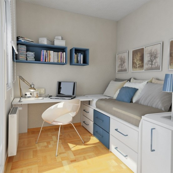 Ideas for a small bedroom storage picture 02 Bedroom design for small space