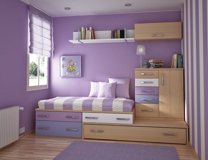 Small bedroom storage ideas cheap images 05 for Room decor ideas storage