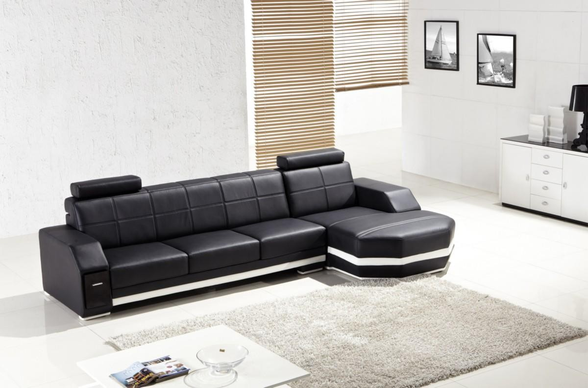 Black contemporary sectional sofa for home images 07