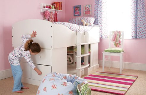 Cabin bed for small bedrooms with storage pictures 03