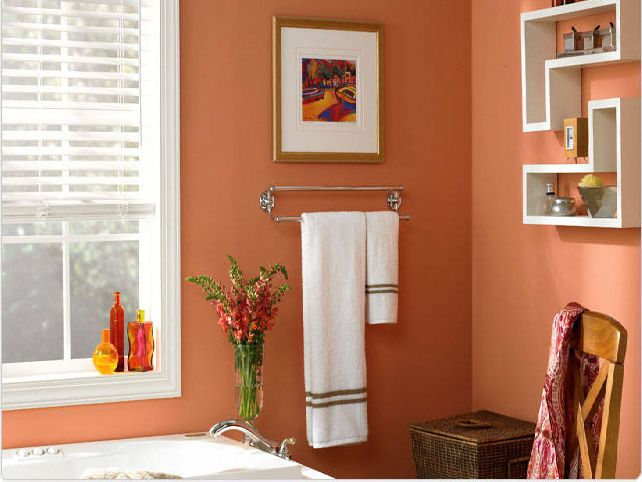 Yellow bathroom paint colors images for Paint for small bathrooms