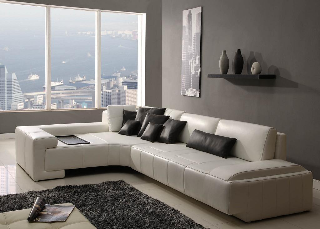 Great contemporary leather sofas apartement pictures 04