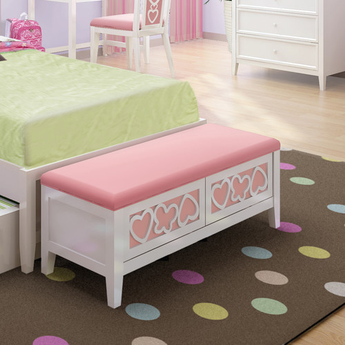 Nice pink storage bench in bedroom furntiure for girls 012