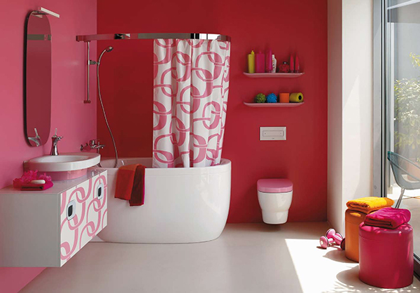 Red bathroom paint colors for small bathrooms pictures 04