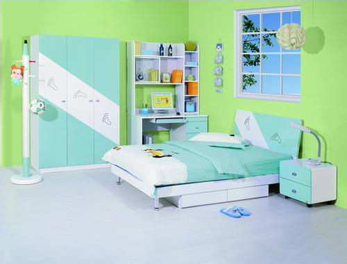 Simple green kids bedroom furniture images 05