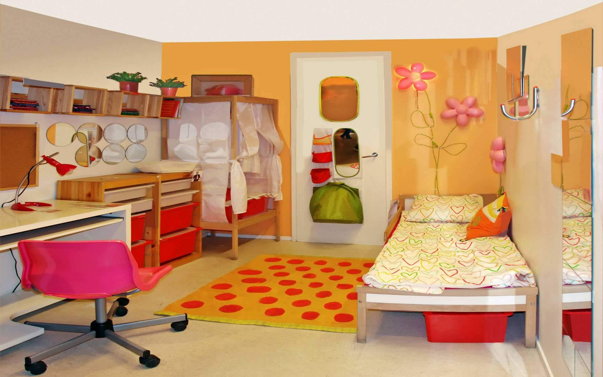 Kids room decorating ideas design ideas for kids rooms space saving long hairstyles - Space saving ideas for small apartment plan ...