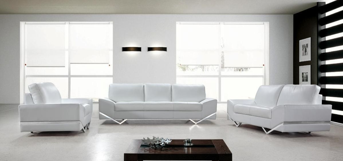 White contemporary sectional sofa design images 06