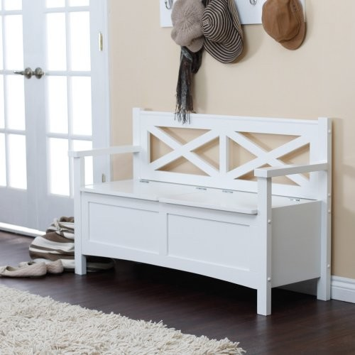 White modern storage bench for bedroom ideas images 06