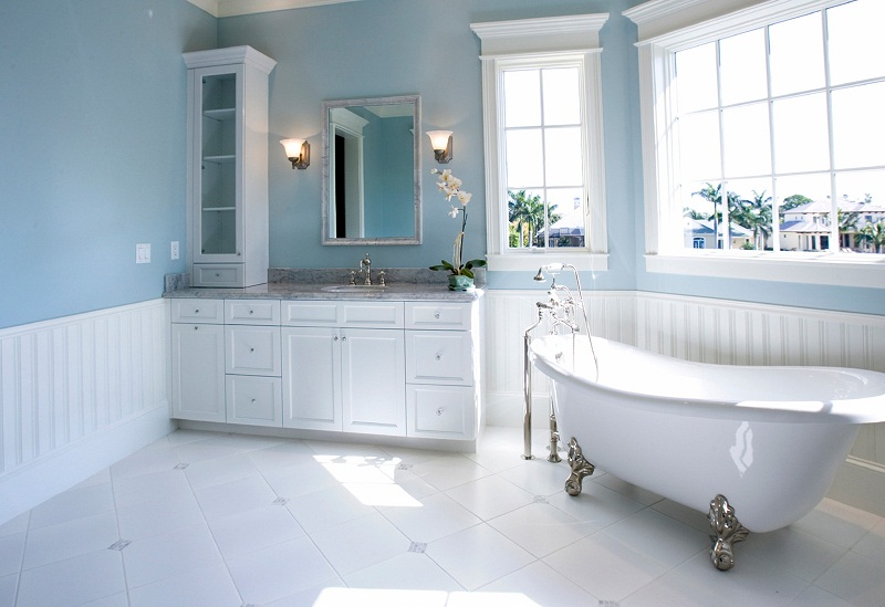 bathroom paint color ideas blue colour scheme 04