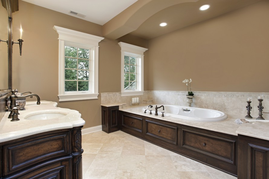 bathroom paint color ideas with dark cabinets 012