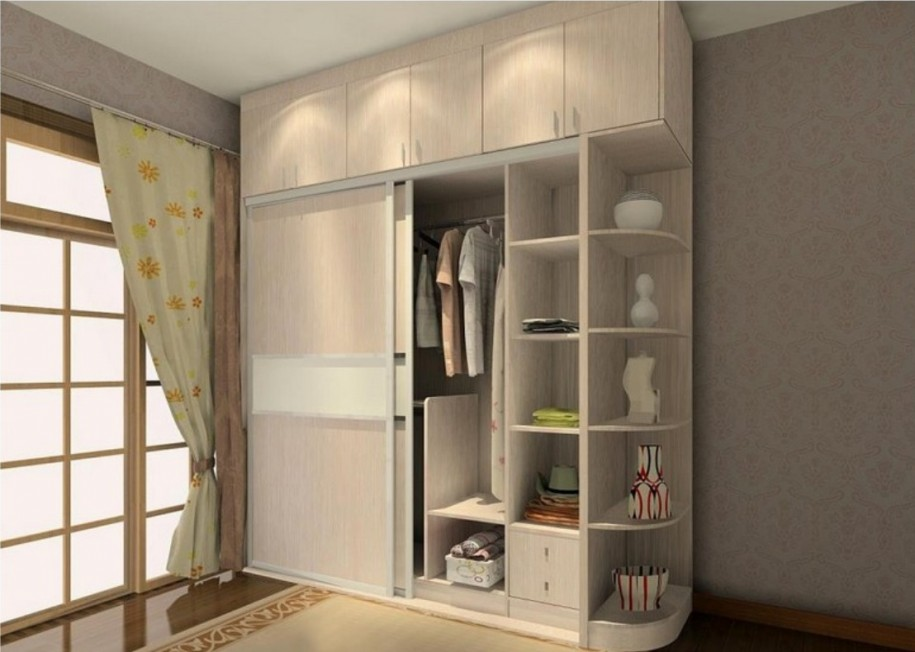 Contemporary corner wardrobes for bedrooms small room for Latest cupboard designs