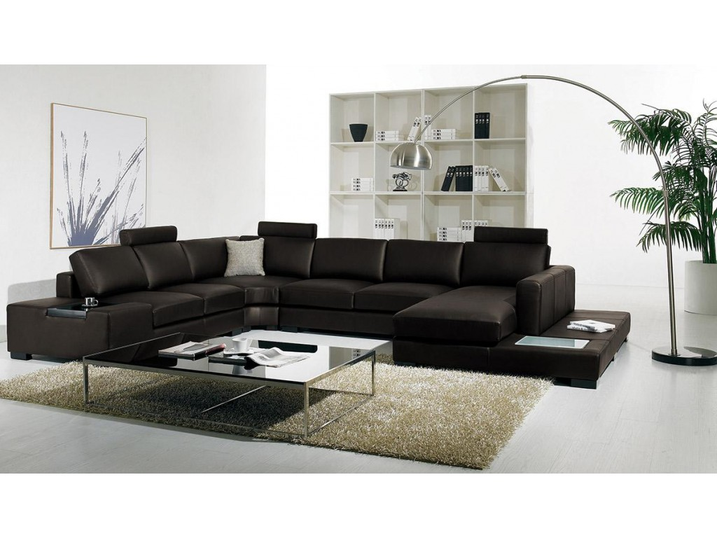 Black modern sectional sofas ideas pictures 010 Contemporary leather sofa
