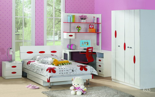 Cool Color Bedroom For Little Girls With Saving Space