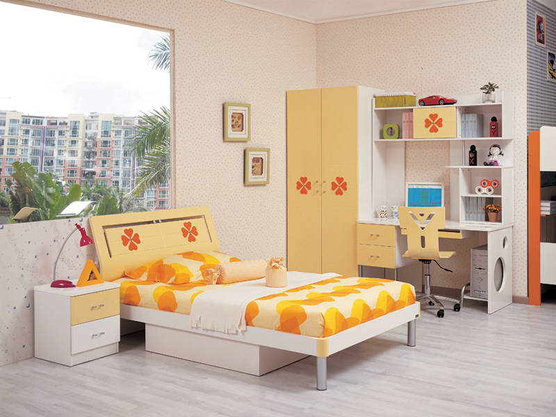 cool yellow childrens bedroom furniture pictures 02