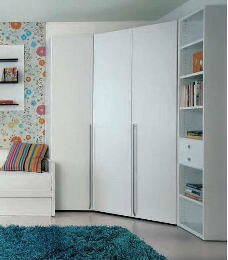Contemporary corner wardrobes for bedrooms small room Corner wardrobe ideas