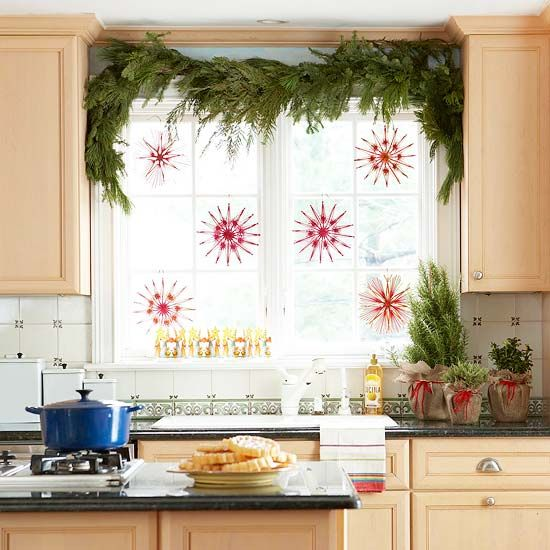 decorating small kitchen window ideas images 05