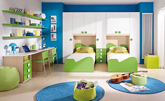 double bed childrens bedroom ideas pic 012