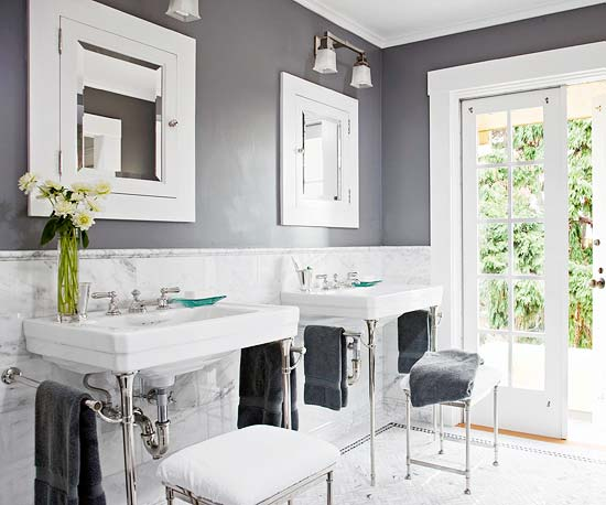 great paint color ideas for black and white bathroom color schemes 011