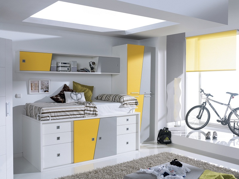 modern cabin bed for kids small room ideas images 04