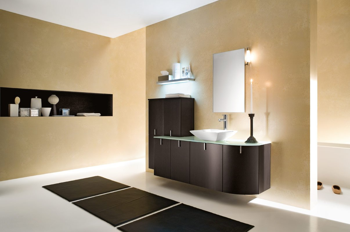 modern paint color ideas for master bathroom with lighting 08