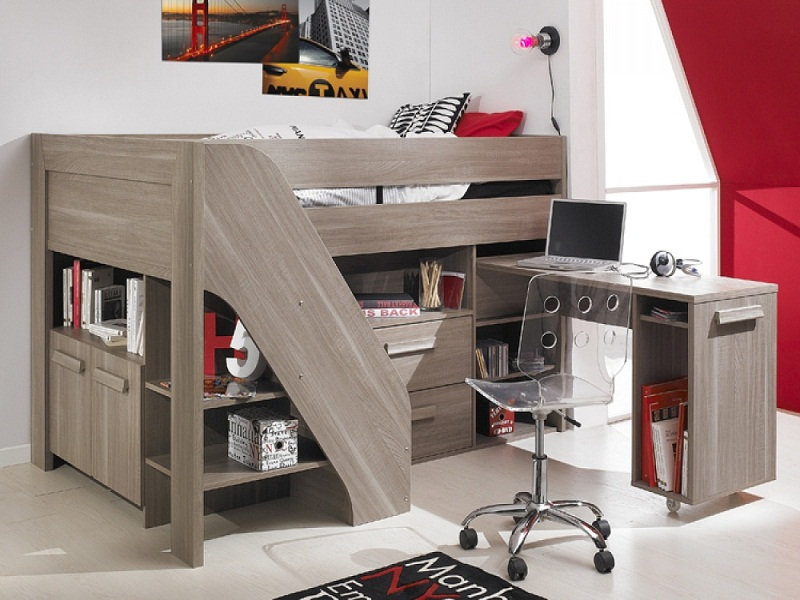 oak compact cabin bed for small rooms design ideas photos 06