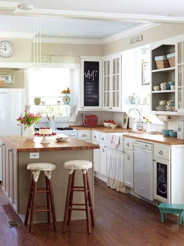 Pictures of small kitchen decorating ideas on a budget for Small kitchen makeover ideas on a budget