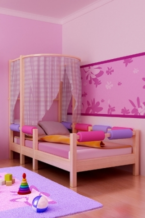 pink small decorating kids bedrooms pictures 02