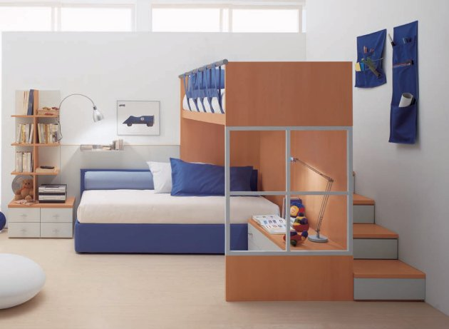 simple modern kids bedroom with small space images 010