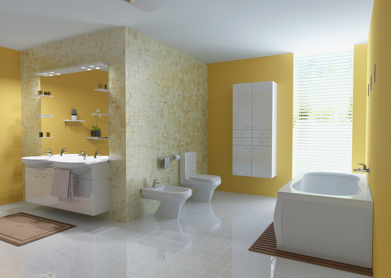 yellow bathroom cabinet paint color ideas images 07