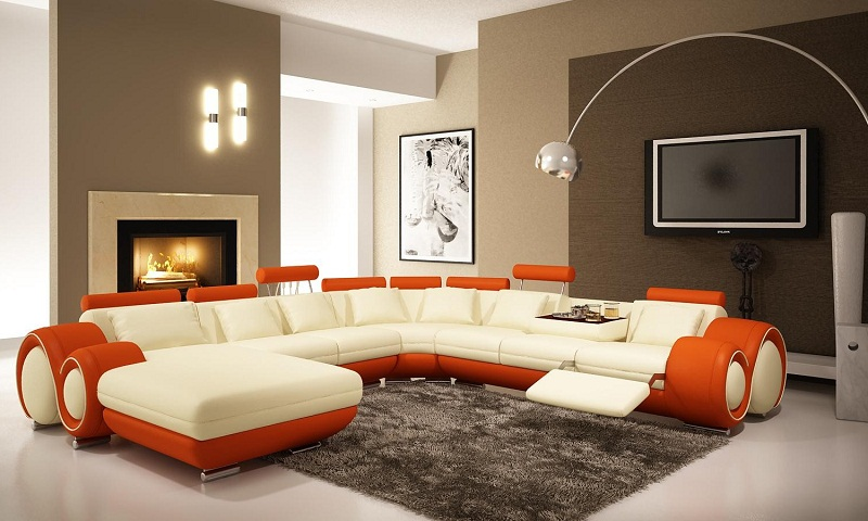 Amazing modern living room colors furniture photos 11