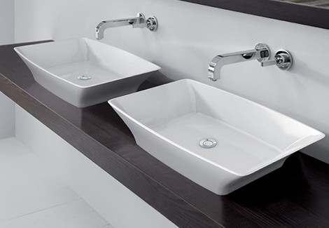 Best bathroom countertop double sink Bassins images 06