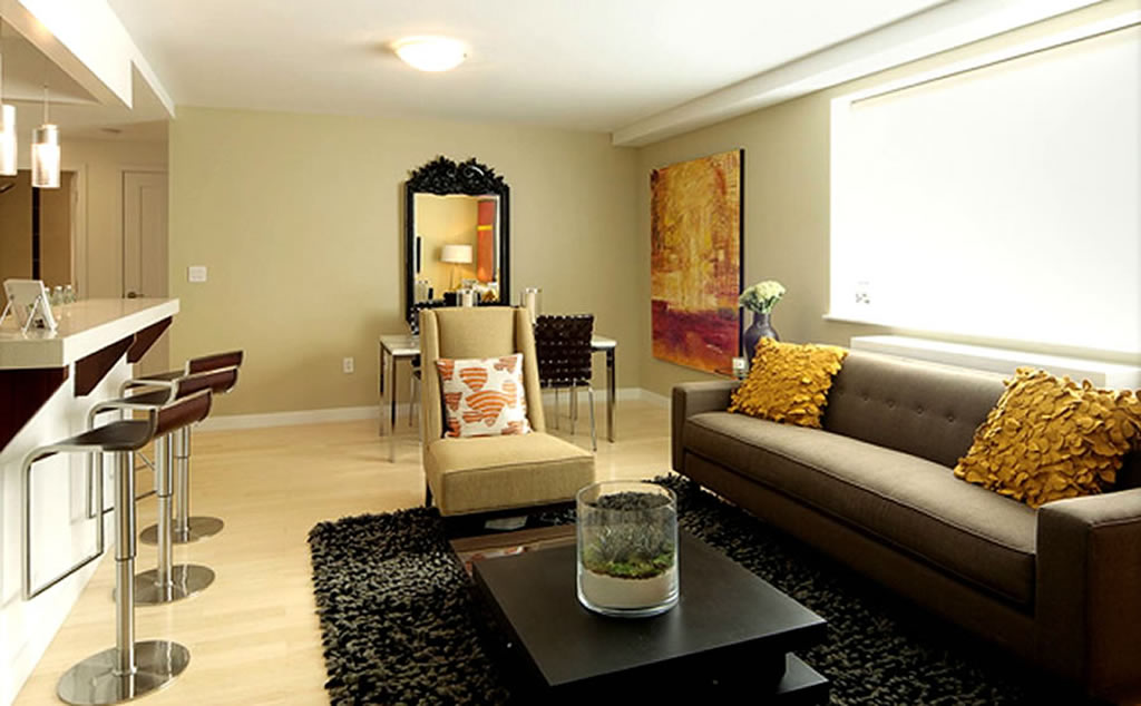 Contemporary Apartment Living Room Furniture Small Room