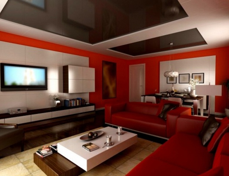 Cool red interior painting ideas and colors images 07