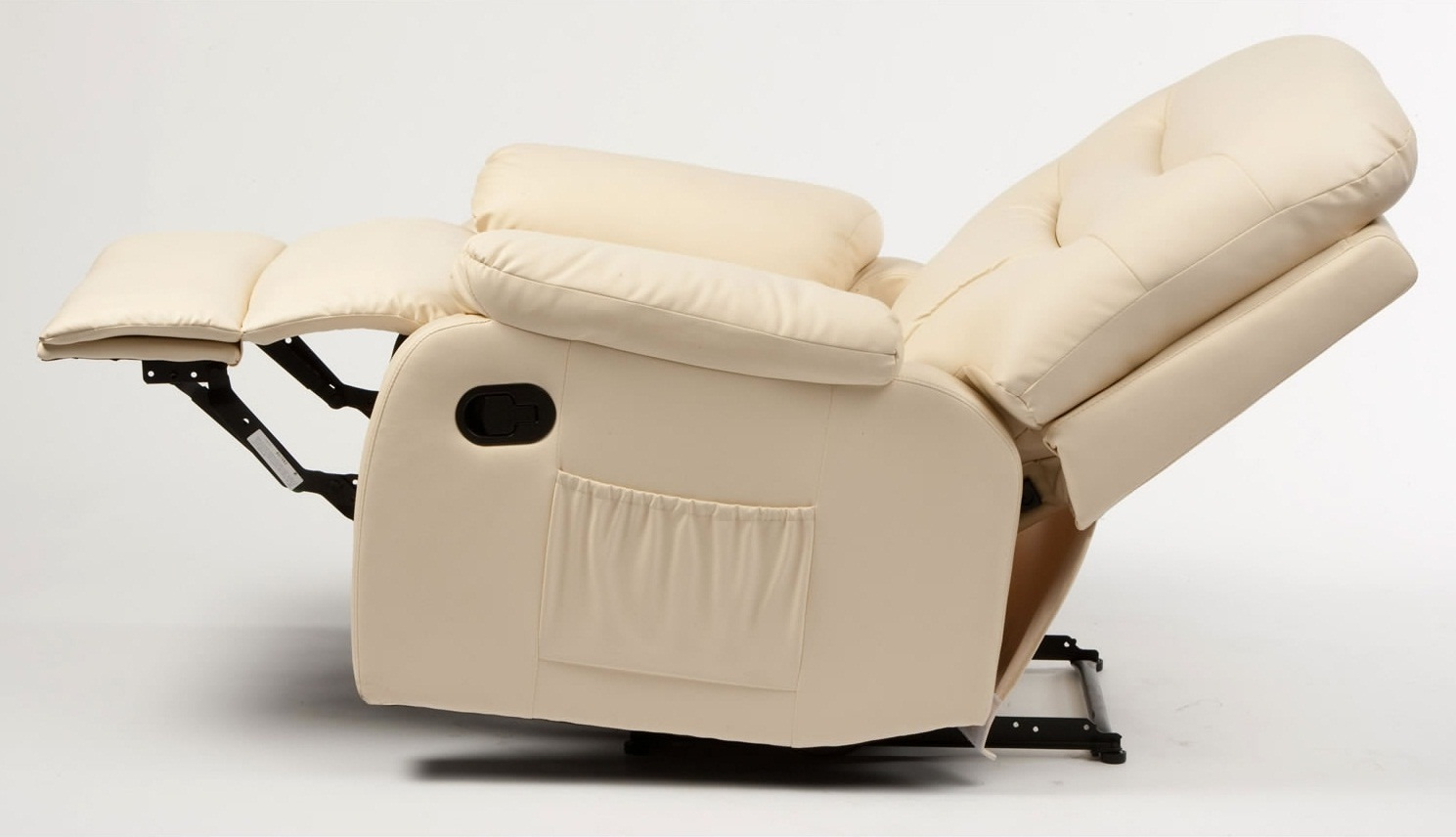 Cream Massage Recliner Armchair image 05